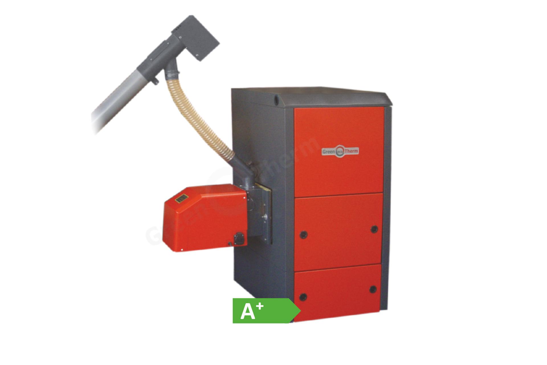Водогрейните котли Pelletherm V.4 LT са модификация на базовия модел пелетни котли от серията Pelletherm V.4. Подходящи са за отопление на малки битови и фирмени обекти, както и за подгряване на битова гореща вода.  Окомплектовани са с: пелетна горелка с автоматично самопочистване от серията GP sc; горивоподаващ шнек; комплект инструменти за почистване.